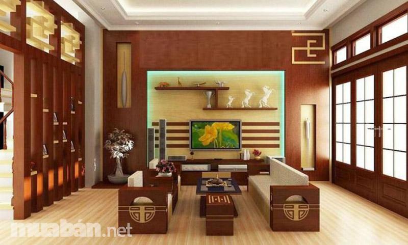 Phòng khách sang trọng, hiện đại cùng phong cách đồ gỗ Mỹ