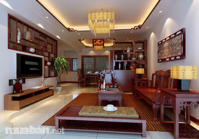 Nội thất đồ gỗ sang trọng dành cho không gian phòng khách