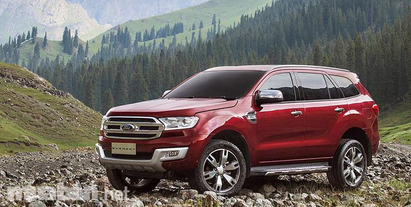 Ford Everest 2017 có thiết kế mạnh mẽ, tương đồng với người anh em Ranger của mình