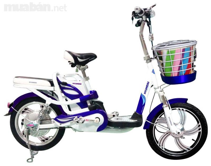 Xe đạp điện Huyndai có thiết gọn nhẹ và màu sắc bắt mắt