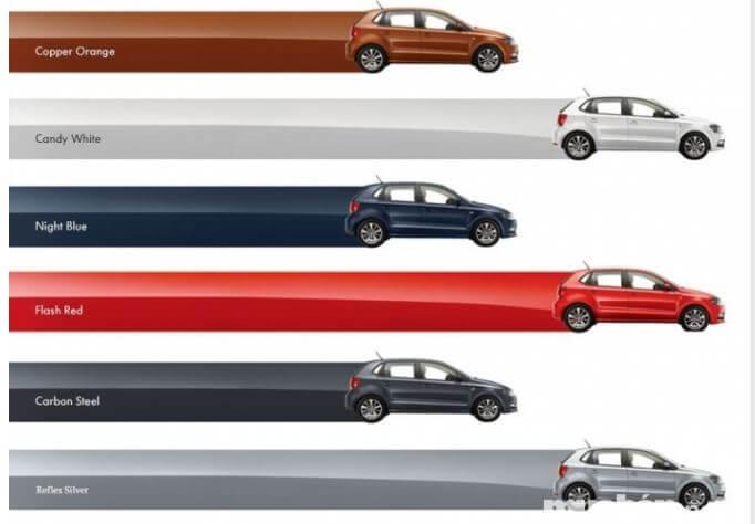 Các màu xe