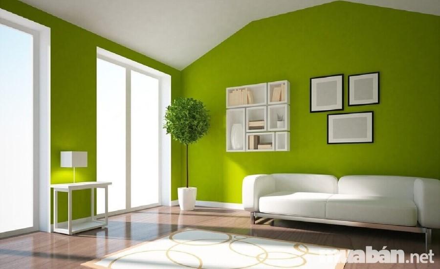 Ngôi nhà nên được sơn bằng màu xanh