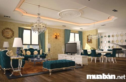Phòng khách bên trong căn hộ