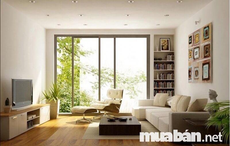 Gương soi giúp đón ánh sáng tốt và tạo cảm giác sáng sủa cho căn phòng