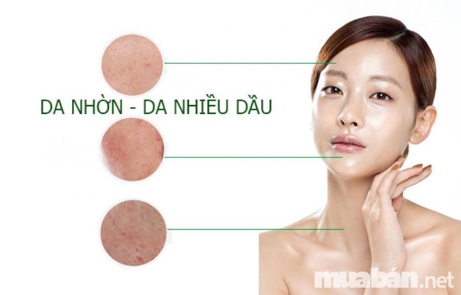 Da dầu thường có lỗ chân lông to và dễ nổi mụn