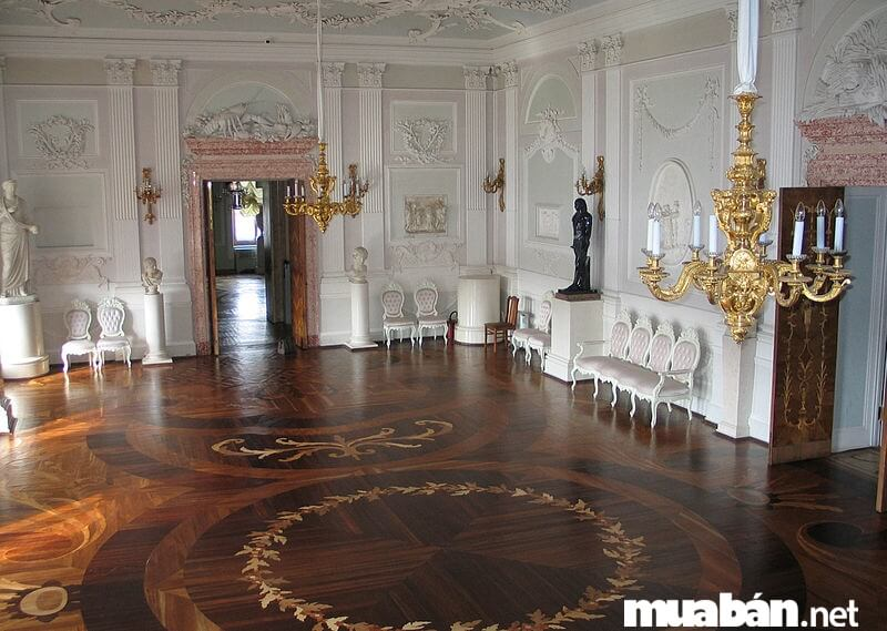Những hoa văn ở các bộ phân bên trong nhà là một điểm đặc trưng nổi bật của biệt thự tân cổ điển