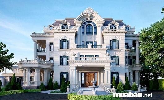 Biệt thự kiểu Pháp với vẻ đẹp xa hoa, sang trọng
