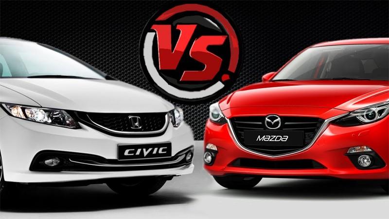 So sánh Honda Civic và Mazda 3
