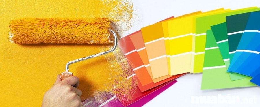 màu sơn cho căn nhà ống mặt tiền
