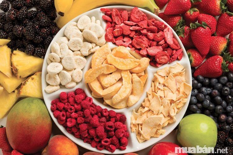 Trái cây sấy khô- Món ăn khoái khẩu và những điều cần biết