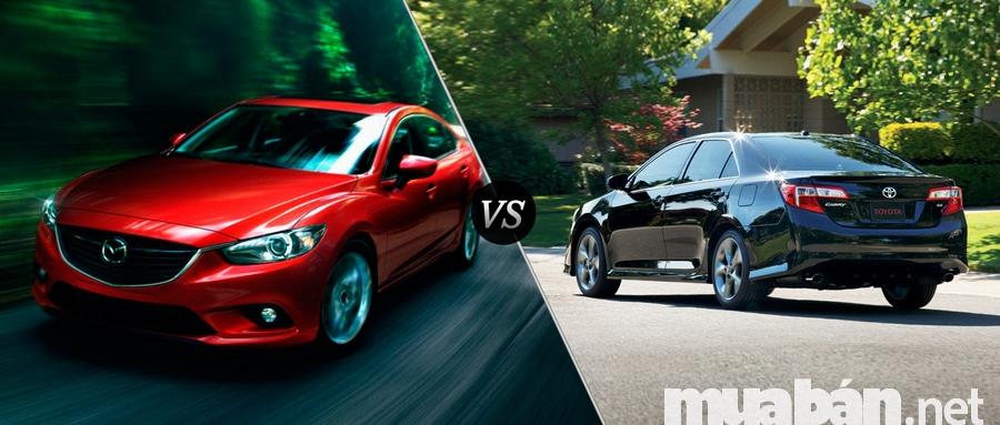 Xe ô tô Mazda 6 và Toyota Camry