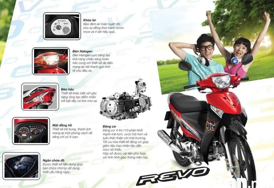Xe Suzuki Revo có động cơ mạnh mẽ