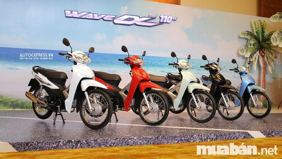 Bảng giá xe Honda mới nhất: Các dòng xe Wave