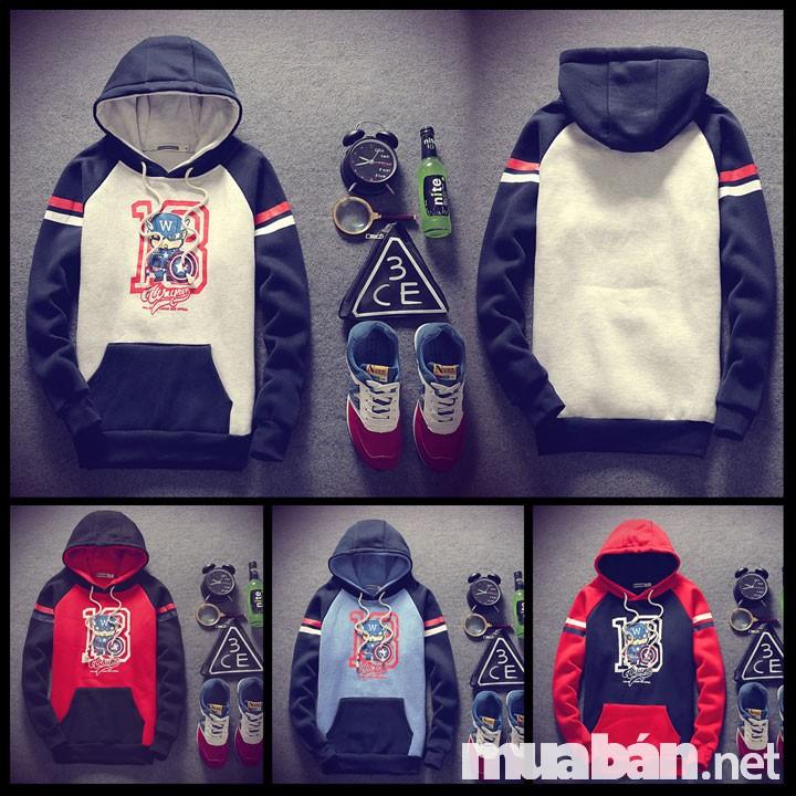 Áo khoác nam hoodie trở thành một xu hướng trong những năm gần đây