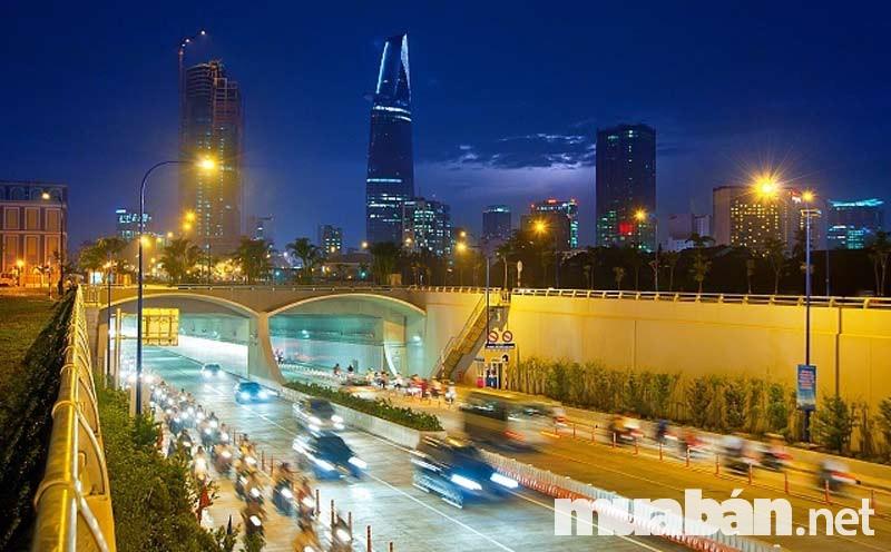 Đường Hầm Thủ Thiêm giúp tăng giá trị đất nền quận 2