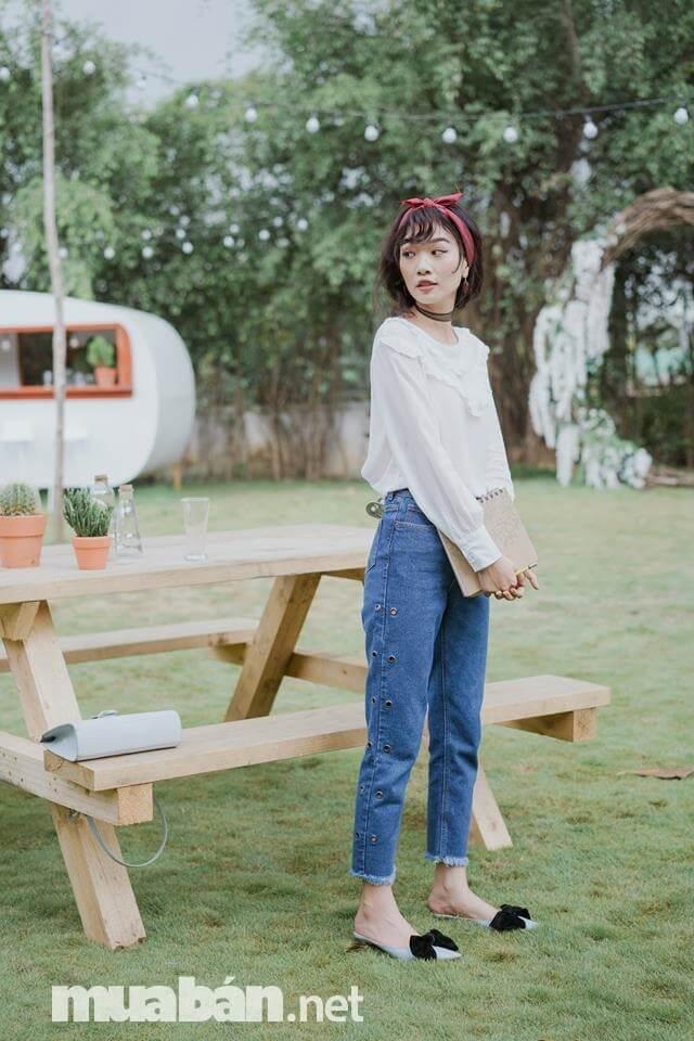 LEN là shop quần jeans nữ thời trang với giá cả phải chăng