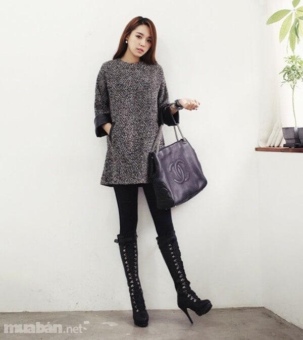 Những chiếc váy len ấm áp, nữ tính là item không thể thiếu cho mùa đông
