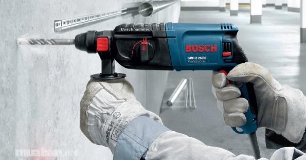Máy khoan cầm tay Bosch được nhiều người tin dùng