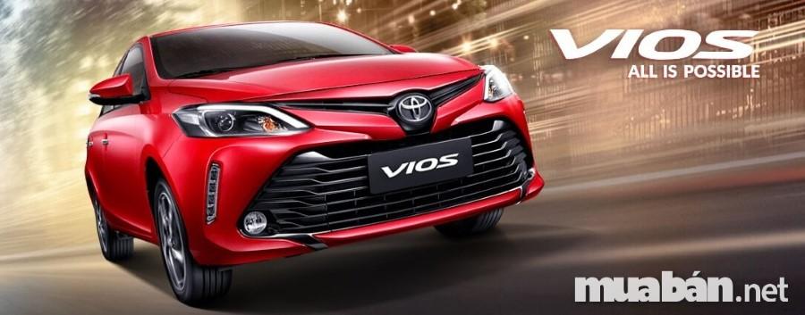Bảng giá xe Vios mới nhất 2018