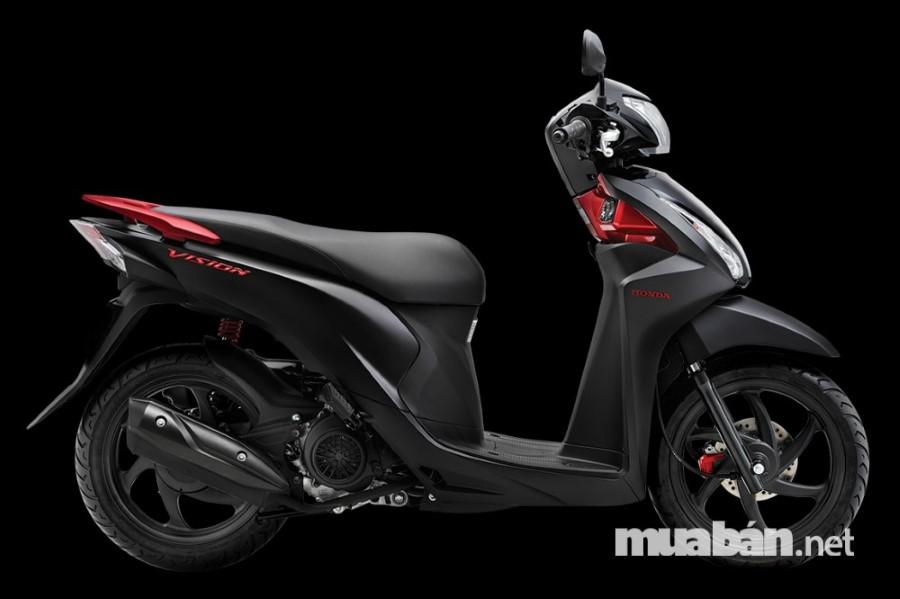 Xe Honda Vision sắc đen cuốn hút