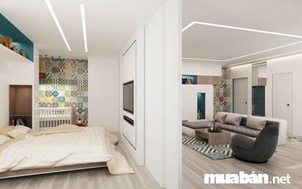 Thiết kế chung cư đẹp diện tích 50 m2