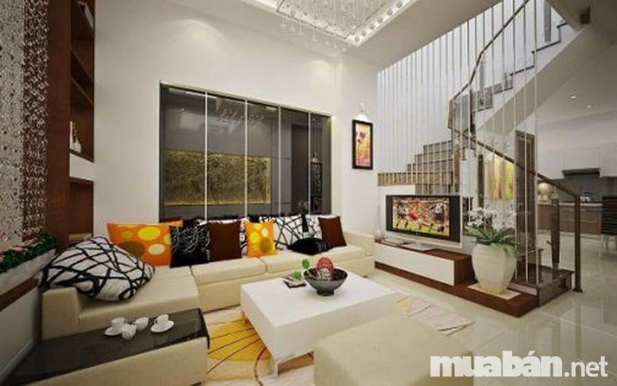 Nên chọn màu sắc nhẹ nhàng, trang nhã trong trang trí nội thất phòng khách