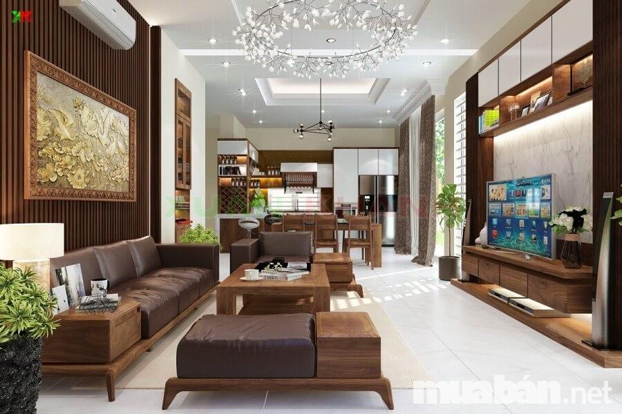 Các vật dụng tiện nghi hiện đại thường xuyên được trang bị trong nội thất của biệt thự hiện đại