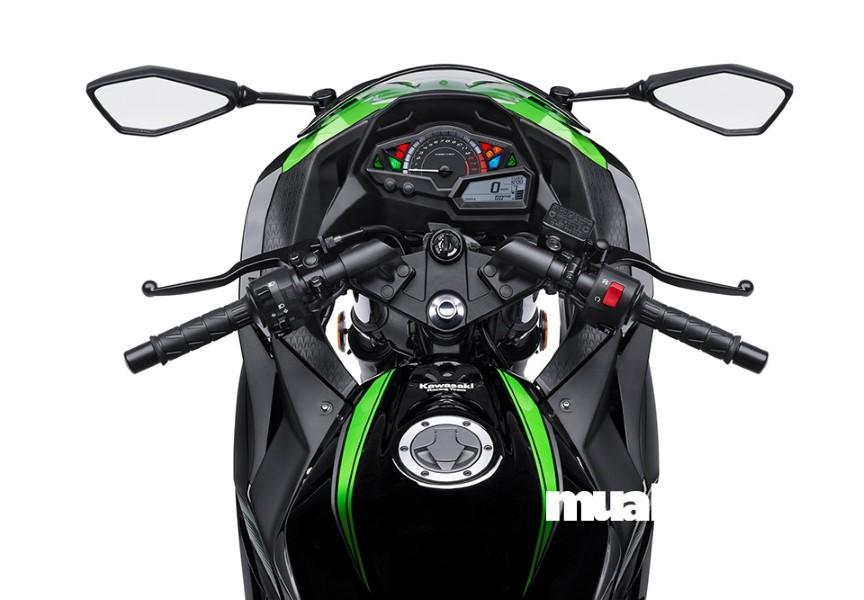 Kawasaki Ninja 300 có nhiều nét thiết kế giống dòng xe tiền nhiệm ZX-10R.