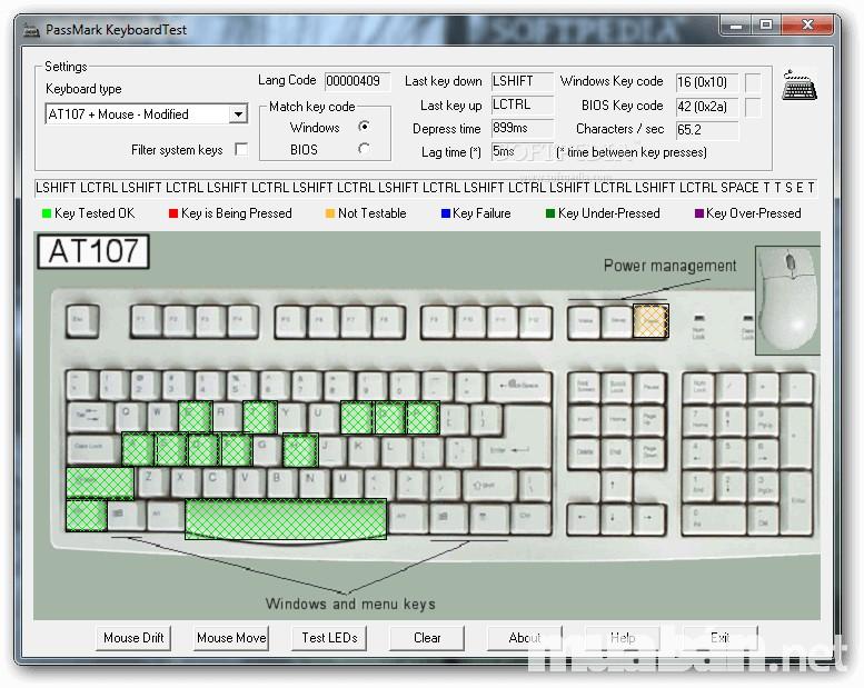 Phần mềm Keyboard Test rất hữu ích khi kiểm tra phím laptop cũ giá rẻ