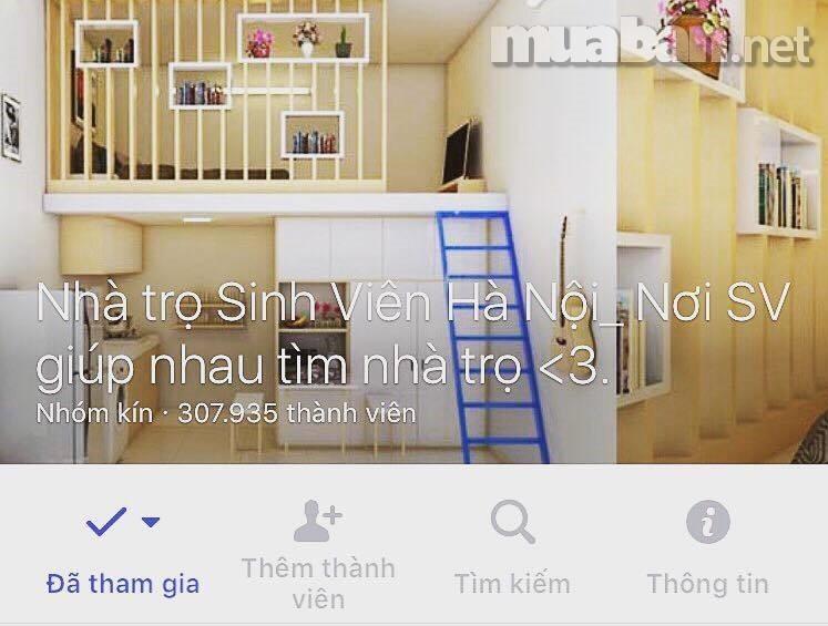 Vào các hội nhóm trên Facebook như: Thuê phòng trọ giá rẻ Hà Nội, Nhà trọ giá rẻ Hà Nội hay Sinh viên giúp nhau tìm phòng trọ Hà Nội,… để tham khảo giá qua những bài viết tại đó.