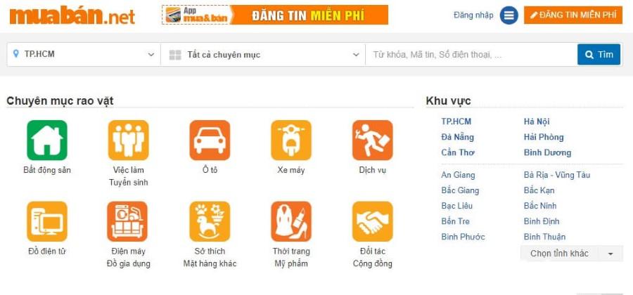 Dễ dàng tìm thuê cửa hàng trên trang web muaban.net
