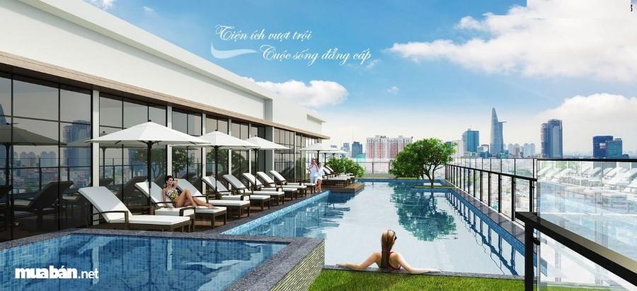 Bể bơi tại chung cư Imperia Sky Garden