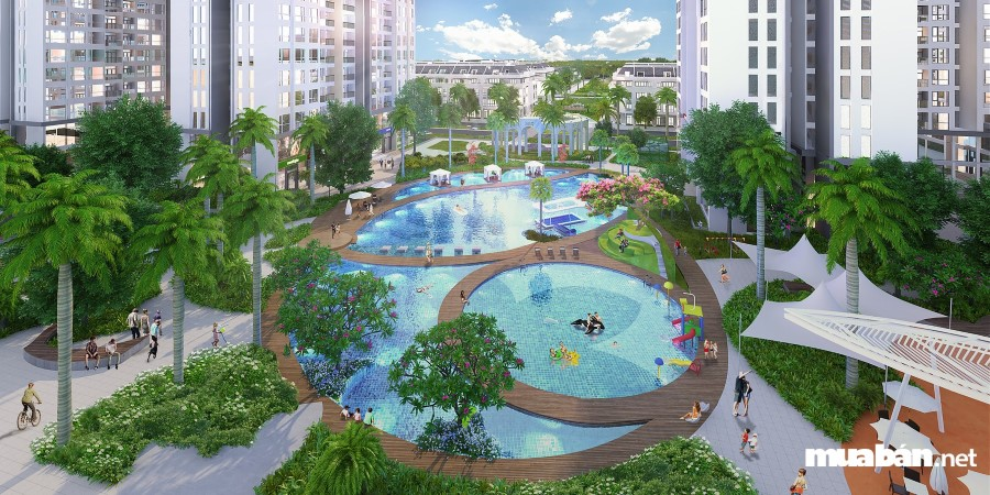bể bơi tại chung cư cao cấp Arcadia Vinhomes Gardenia