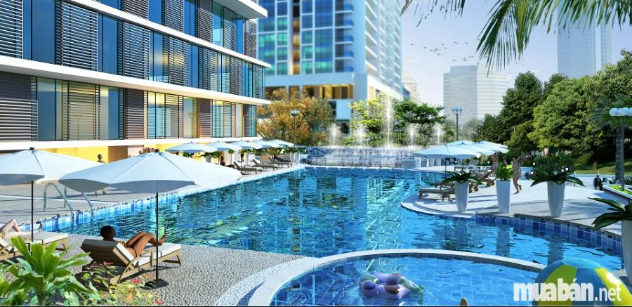 bể bơi tại chung cư Hà Nội Center Point