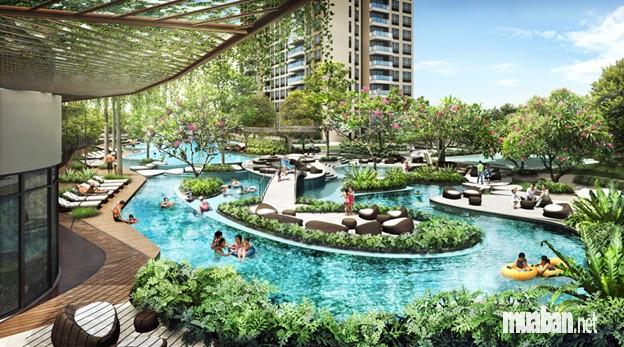 bể bơi tại chung cư Imperia Garden