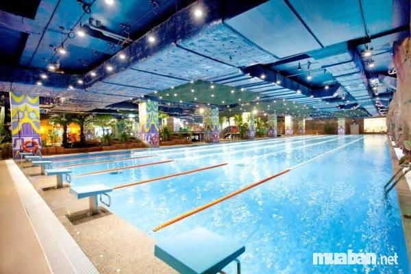 bể bơi bốn mùa tại chung cư cap cấp Royal City
