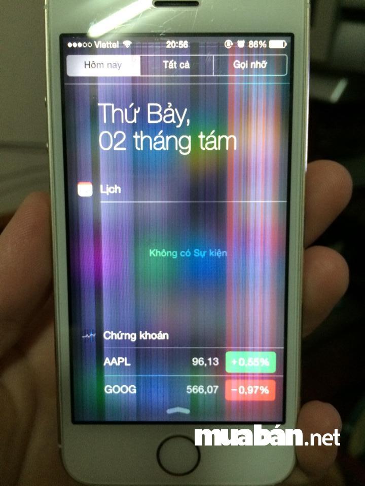 Điện thoại cũ rất dễ hư màn hình cảm ứng.