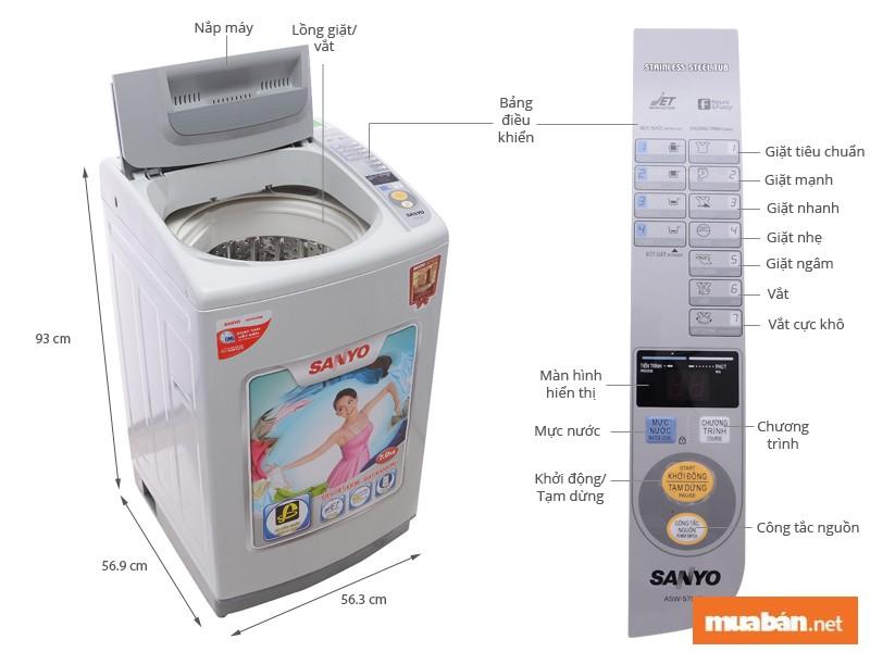 Máy giặt Sanyo ASW-S70KT