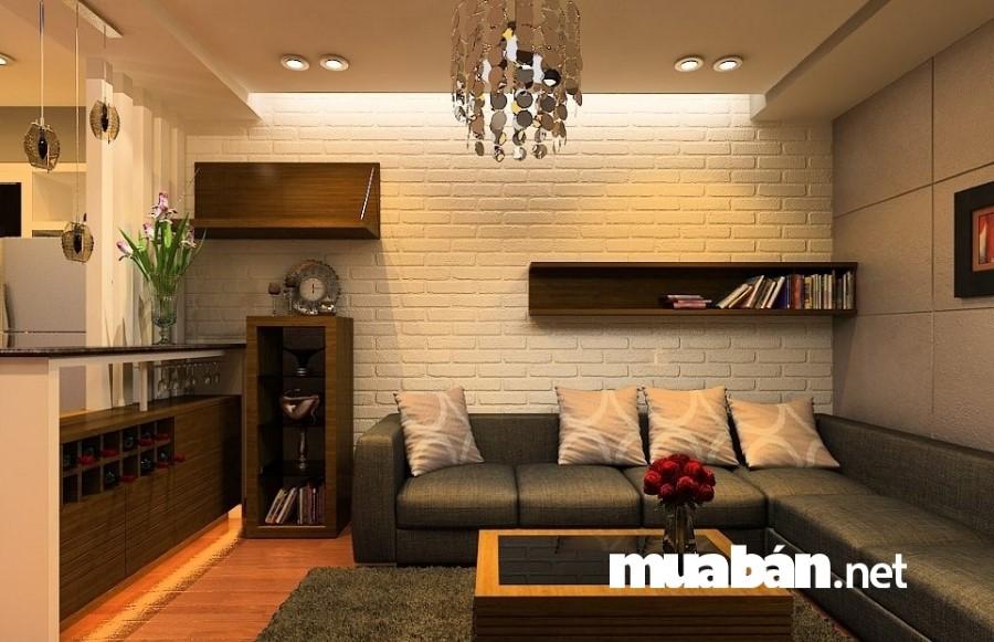Những sắc màu tối trang trí ở phòng khách không chỉ tạo sự u ám đem lại cảm giác không tốt mà còn không đem lại vượng khí cho cả căn nhà.