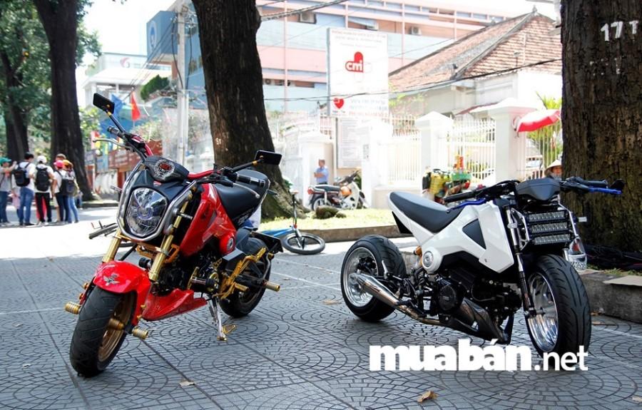Monkey bike Honda MSX khá nặng nhọc khi di chuyển tốc độ cao ngoài đường trường.