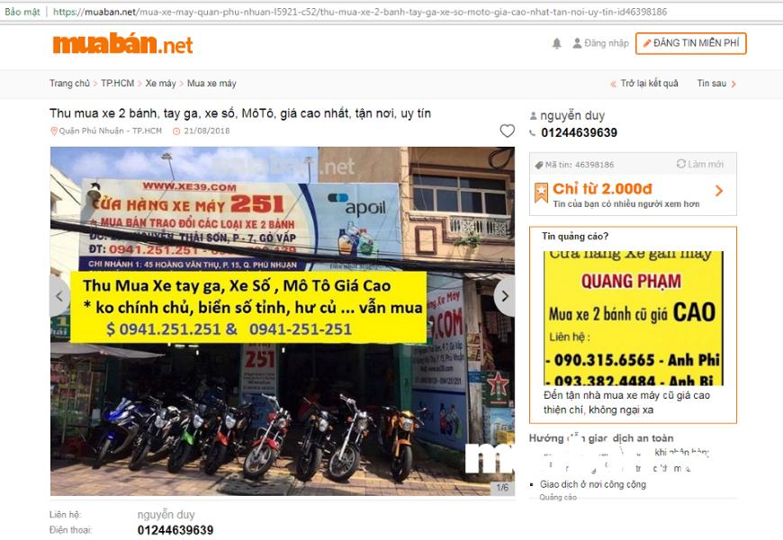 Nếu muốn tiết kiệm chi phí hơn bạn nên ghé thăm những website đăng tin rao vặt trực tuyến miễn phí như MuaBan.net.