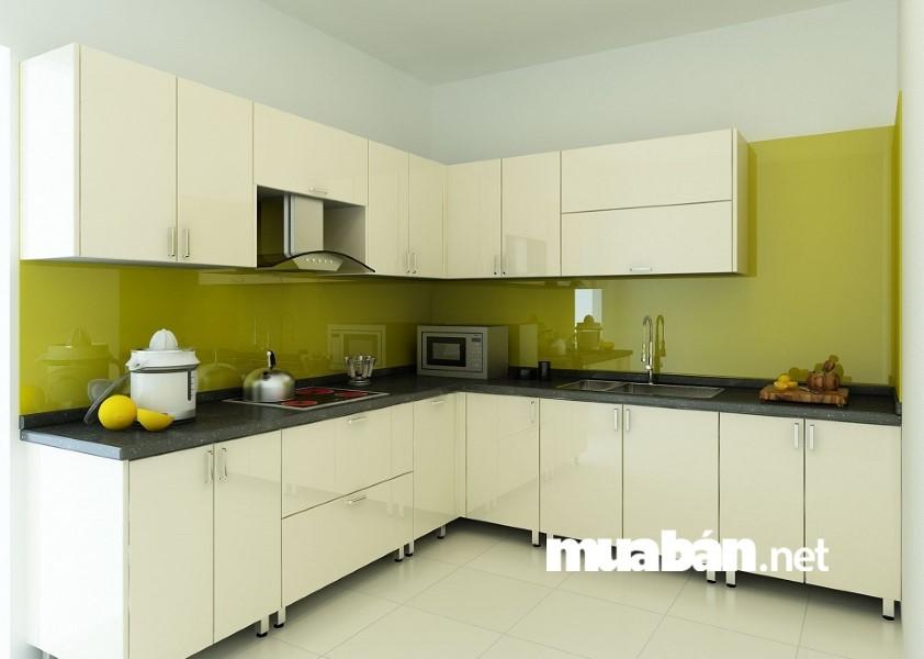 Thay vì sử dụng nội thất phòng bếp màu tối bạn nên chọn màu trắng.