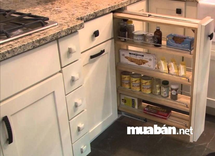Với những dòng tủ thông minh này bạn có thể tiết kiệm được rất nhiều diện tích cho phòng bếp.