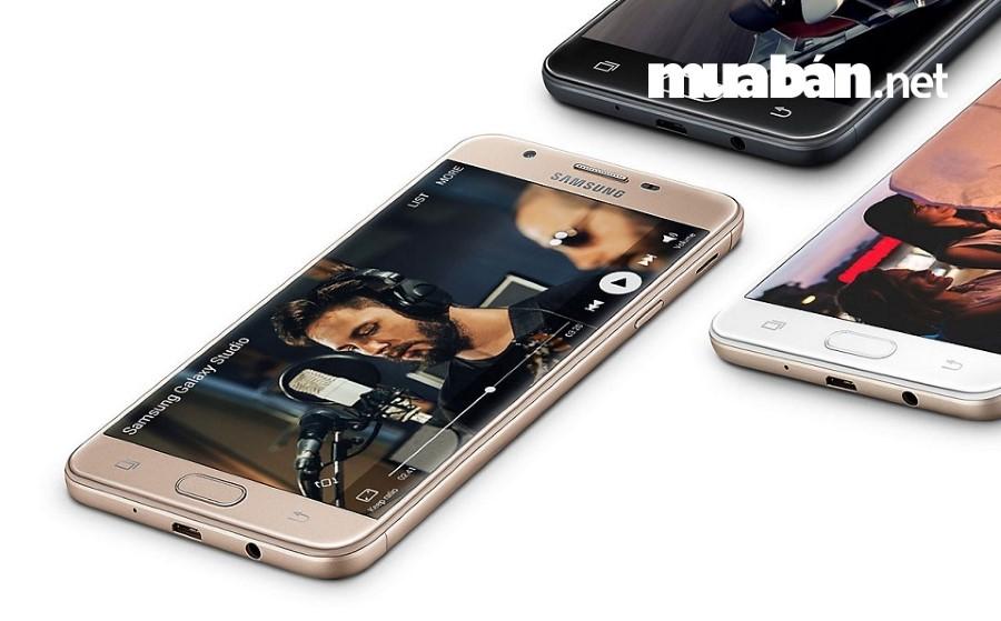 Samsung Galaxy J7 Prime mang thiết kế nguyên khối kim loại sang trọng