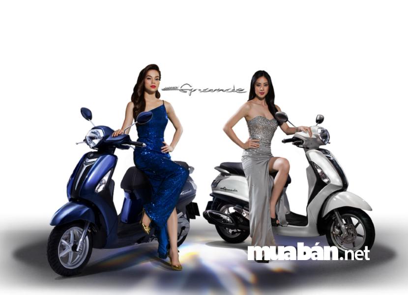 Yamaha Nozza được thiết kế đậm chất sành điệu, nữ tính với những đường cong uốn lượn mềm mại.