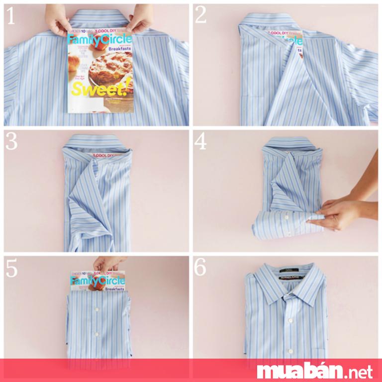 Bỏ túi ngay 4 cách gấp áo sơ mi nhanh gọn nhất