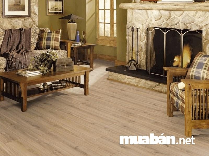 Sàn gỗ được đa số mọi người lựa chọn để trang trí phòng khách