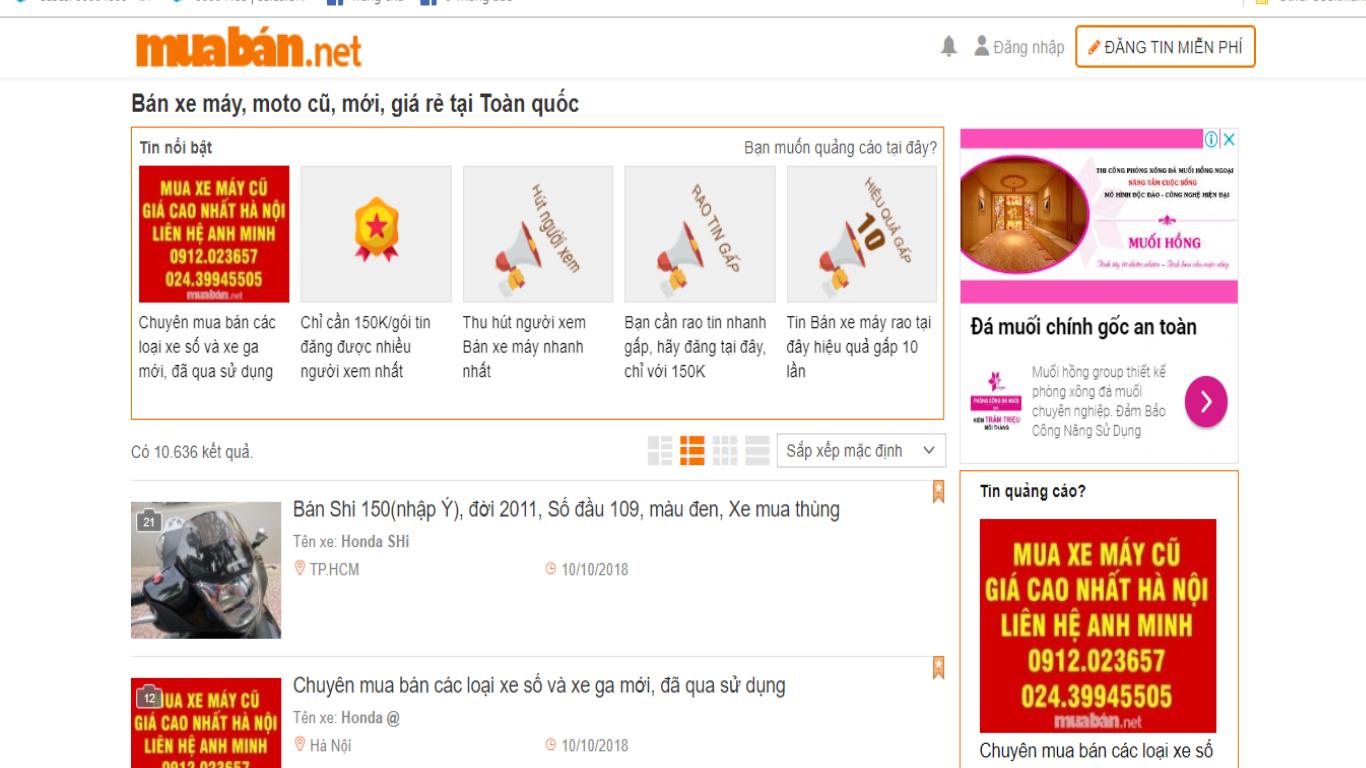 Tìm Hiểu Và Lựa Chọn Các Trang Web Chuyên Đăng Tin Về Xe Máy