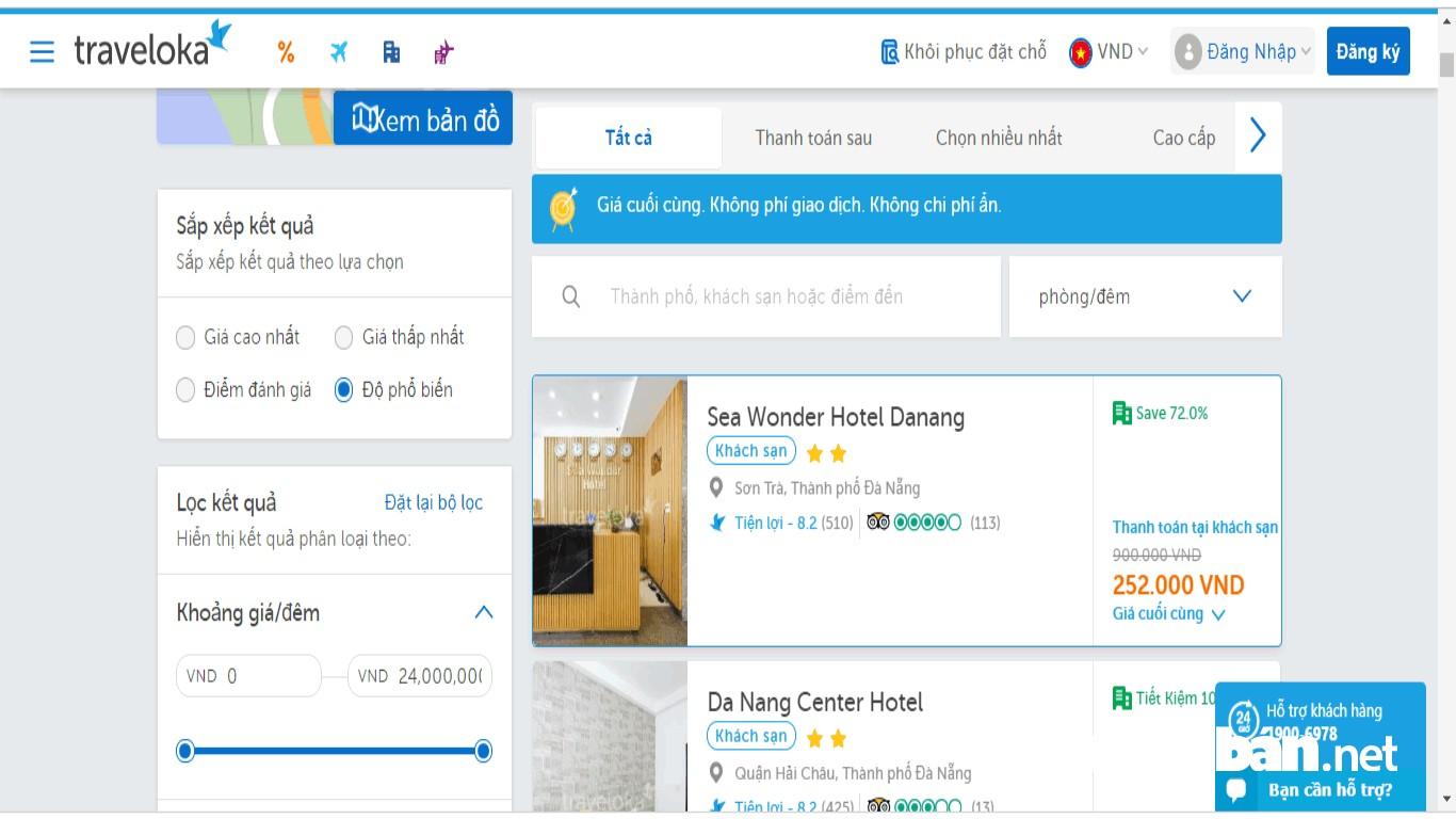 Lựa chọn các dịch vụ hỗ trợ đặt phòng như Traveloka cũng là phương thức giúp bạn đặt phòng hiệu quả