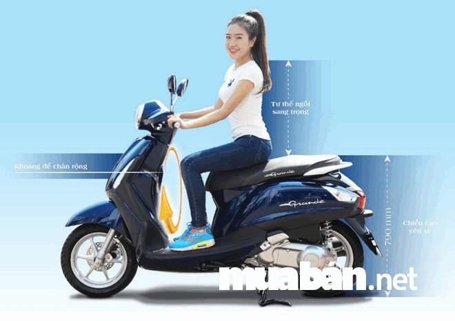 Yamaha Grande có phong cách thời trang, hiện đại cũng thu hút người mua